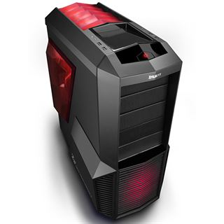 Zalman Z11 Plus HF1 mit Sichtfenster Midi Tower ohne Netzteil schwarz/rot