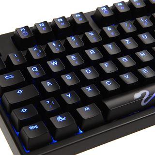 Ducky Shine 3 blaue LED MX Brown CHERRY MX Brown USB Deutsch schwarz (kabelgebunden)