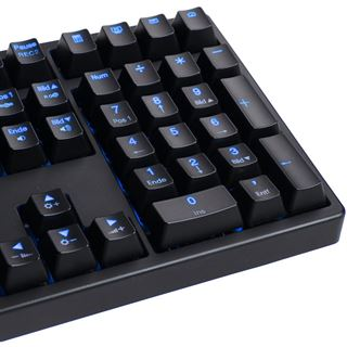 Ducky Shine 3 blaue LED MX Blue CHERRY MX Blue USB Deutsch schwarz (kabelgebunden)
