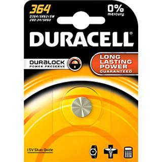 Duracell Batterie Silver Oxide, Knopfzelle, 364, 1.5V