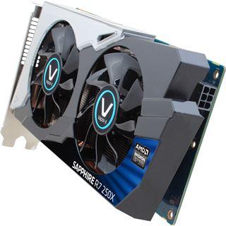 1GB Sapphire Radeon R7 250X Vapor-X OC Aktiv PCIe 3.0 x16 (Retail)