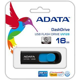 16 GB ADATA UV128 schwarz/blau USB 3.0