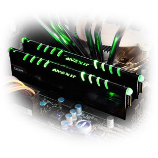 8GB Avexir Core Series grüne LED DDR3-2400 DIMM CL11 Dual Kit