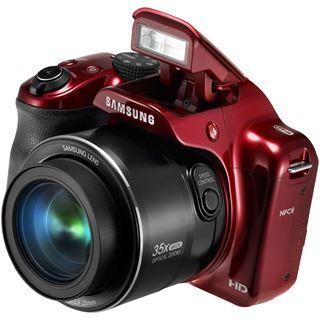 Samsung OP Digital-Fotokamera 16MP,rt WB1100F red