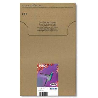 Epson T0807 Tintenpatrone schwarz und fünf Farben Standardkapazität black and colour: 7.4ml 6er-Pack online packaging