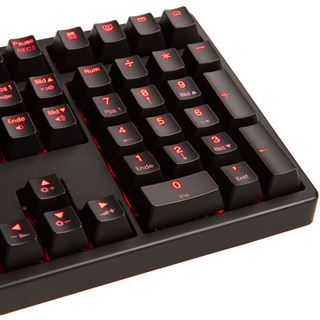 Ducky Shine 3 rote LED CHERRY MX Red USB Deutsch schwarz (kabelgebunden)