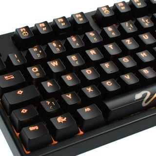Ducky Shine 3 orange LED CHERRY MX Red USB Deutsch schwarz (kabelgebunden)