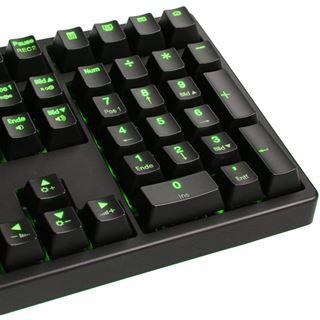 Ducky Shine 3 grüne LED MX Black CHERRY MX Black USB Deutsch schwarz (kabelgebunden)