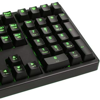 Ducky Shine 3 grüne LED MX Brown CHERRY MX Brown USB Deutsch schwarz (kabelgebunden)