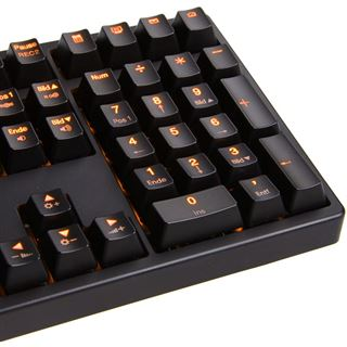 Ducky Shine 3 orange LED CHERRY MX Black USB Deutsch schwarz (kabelgebunden)