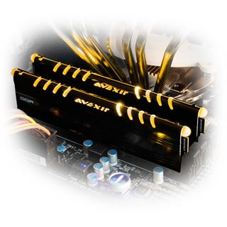 16GB Avexir Core Series GOLD gelbe LED DDR3-2400 DIMM CL11 Dual Kit