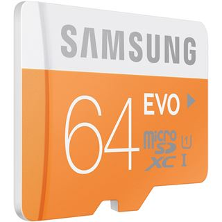 64 GB Samsung UHS-I EVO microSDXC Class 10 Retail inkl. Adapter
