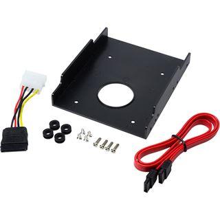 """LogiLink 3,5"""" Kunststoff Einbaurahmen für 2,5"""" Festplatten/SSDs (AD0013)"""