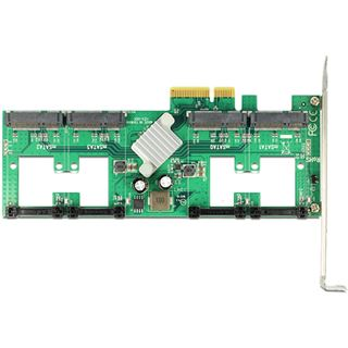 Delock 89373 4 Port PCIe 2.0 x4 inkl. Low Profile Slotblech / Low Profile retail
