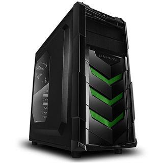 Raidmax Vortex V4 mit Sichtfenster Midi Tower ohne Netzteil schwarz