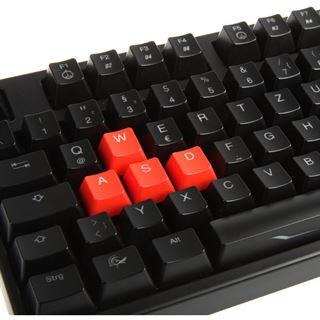 Ducky Shine 3 Slim blaue LED MX Red CHERRY MX Red USB Deutsch schwarz (kabelgebunden)