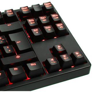 Ducky Shine 3 Slim rote LED CHERRY MX Black USB Deutsch schwarz (kabelgebunden)