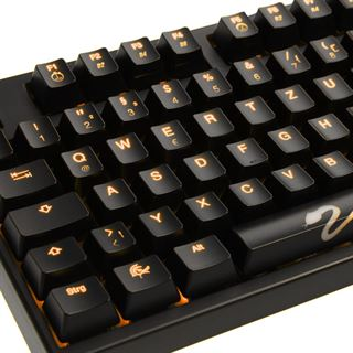 Ducky Shine 3 Slim orange LED CHERRY MX Black USB Deutsch schwarz (kabelgebunden)