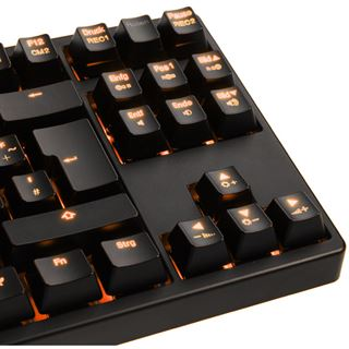 Ducky Shine 3 Slim orange LED MX Blue CHERRY MX Blue USB Deutsch schwarz (kabelgebunden)