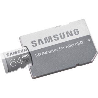64 GB Samsung Pro microSDXC UHS-I Retail inkl. Adapter