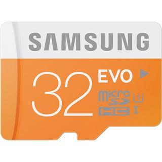 32 GB Samsung EVO microSDHC Class 10 Retail inkl. USB-Adapter