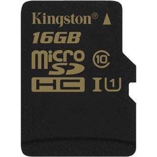 16 GB Kingston microSDHC UHS-I Retail inkl. Adapter auf SD