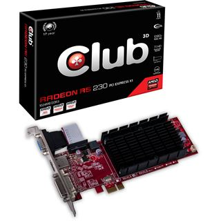 2GB Club 3D Radeon R5 230 Noiseless Edition Passiv PCIe 3.0 x16 (Retail)