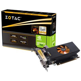 2GB ZOTAC GeForce GT 740 LP Aktiv PCIe 3.0 x16 (Retail)