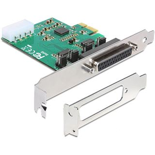 Delock PCI Express Card 1x D-Sub25, 2x Seriell RS-232 ext.