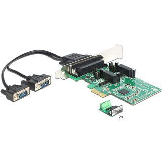 Delock PCI Express Card 1x D-Sub9, 2x Seriell RS-422/485 ext