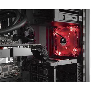 Corsair Carbide SPEC-02 LED rot mit Sichtfenster Midi Tower ohne Netzteil schwarz