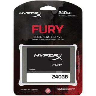 """240GB HyperX FURY 2.5"""" (6.4cm) SATA 6Gb/s MLC asynchron (SHFS37A/240G)"""