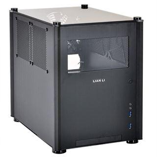 Lian Li PC-Q36WB mit Sichtfenster Mini-ITX ohne Netzteil schwarz