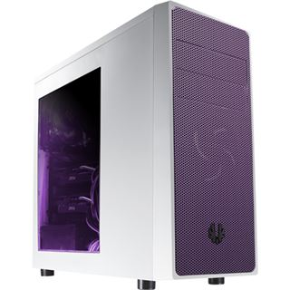 BitFenix Neos mit Sichtfenster Midi Tower ohne Netzteil weiss/violett