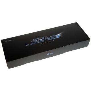 Ducky Shine 3 rote LED MX Blue CHERRY MX Blue USB Deutsch schwarz (kabellos)