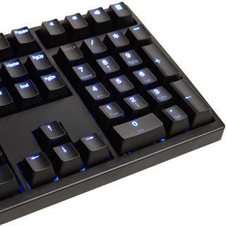 Ducky Zero Shine blaue LED CHERRY MX Black USB Deutsch schwarz (kabelgebunden)