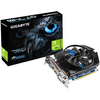 2GB Gigabyte GeForce GT 740 OC Aktiv PCIe 3.0 x16 (Retail)