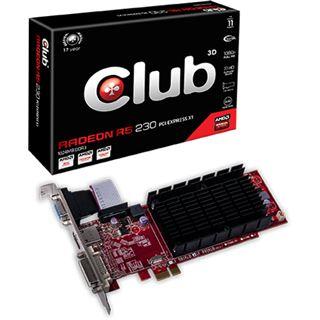 1GB Club 3D Radeon R5 230 Noiseless Edition Passiv PCIe x1 (Retail)