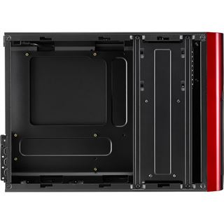 AeroCool QS-101 Red Edition Mini Tower ohne Netzteil rot