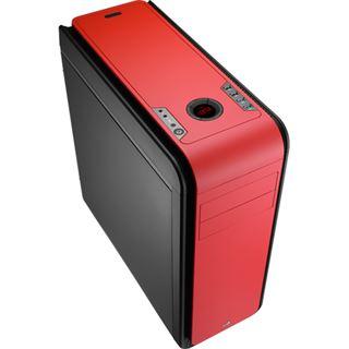 AeroCool DS 200 Red Edition gedämmt Midi Tower ohne Netzteil rot