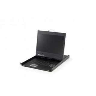 """LevelOne 19"""" (48,26cm) Rackmount-TFT Konsole 1U DE (19"""" LCD)"""