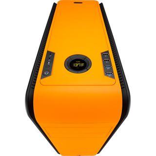 AeroCool DS 200 Orange Edition gedämmt Midi Tower ohne Netzteil orange