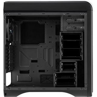 AeroCool DS 200 White Edition gedämmt Midi Tower ohne Netzteil weiss/schwarz