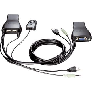 D-Link DKVM-222 2-fach VGA-KVM-Switch
