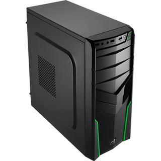 AeroCool V2X Green Edition Midi Tower ohne Netzteil schwarz/gruen