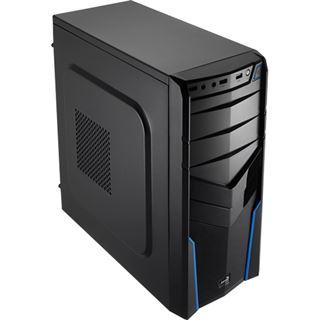 AeroCool V2X Blue Edition Midi Tower ohne Netzteil schwarz/blau