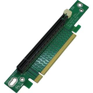 Inter-Tech 90° links gerichtet Riser Card für PCIe x16 (88885222)