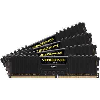 16GB Corsair Vengeance LPX schwarz DDR4-2666 DIMM CL15 Quad Kit