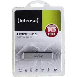16 GB Intenso Premium Line schwarz/silber USB 2.0