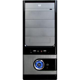 Inter-Tech JY-230 Badger Midi Tower ohne Netzteil schwarz/silber